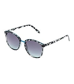 Jessica Simpson Round Metal Bridge Retro Sunglasses