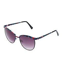Jessica Simpson Round Metal Floral Sunglasses