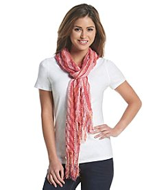 Collection 18 Chevron Pleat Long And Skinny Scarf