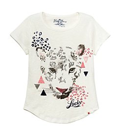 Lucky Brand® Girls' 4-16 Short Sleeve Leopard Tee