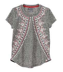 Lucky Brand® Girls' 4-16 Short Sleeve Feila Printed Tee