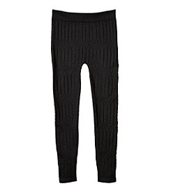 Squeeze® Girls' 2T-16 Solid Cable Knit Leggings