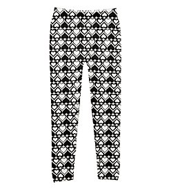 Squeeze® Girls' 2T-16 Geometric Heart Printed Leggings
