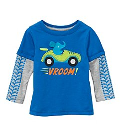 Mix & Match Baby Boys Long Sleeve Vroom Layered Skater Tee