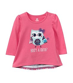Mix & Match Baby Girls' Long Sleeve Owl Bow Back Tee