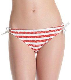 In Mocean Classic Stripe Crochet Keyhole Hipster Bottoms