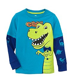 Mix & Match Boys' 2T-4T Layered T-Rex Skater Tee