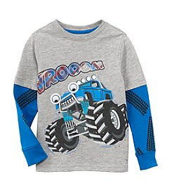 Mix & Match Boys' 2T-4T Layered Vrooom Truck Skater Tee