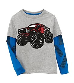 Mix & Match Boys' 4-7 Layered Monster Truck Skater Tee