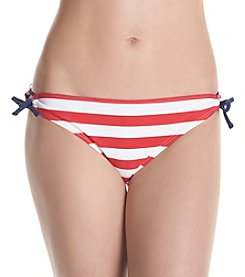 In Mocean® Classic Stripe Keyhole Hipster Swim Bottoms