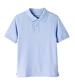 Nautica® Boys' 8-20 Short Sleeve Pique Polo