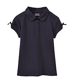 Nautica® Girls' 4-6X Short Sleeve Polo Shirt with Bow Accents