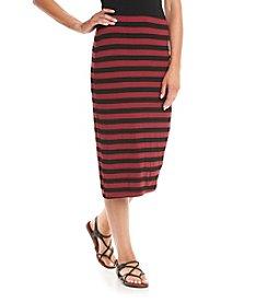 Bobeau® Striped Pencil Skirt