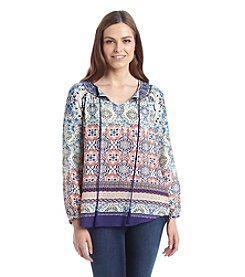 Ruff Hewn Printed Peasant Top