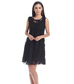 Oneworld® Floral Lace Scoop Neck Dress