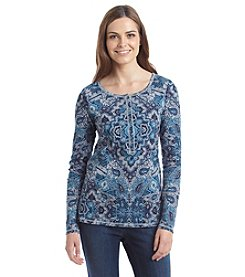 Ruff Hewn Paisley Printed Henley