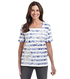 Alfred Dunner® Cyprus Printed Knit Top