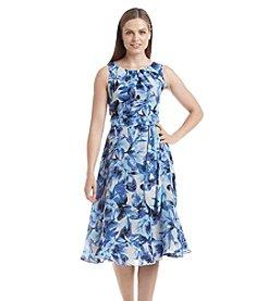 Kasper® Floral Waist Tie Dress