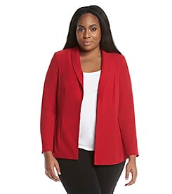 Calvin Klein Plus Size Solid Lux Jacket