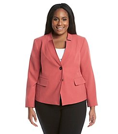 Nine West® Plus Size Two Button Stretch Jacket