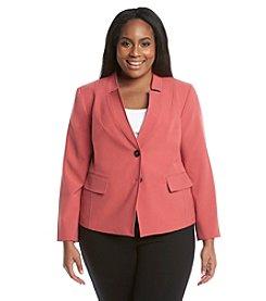 Nine West® Plus Size Two Button Stretch Jacket