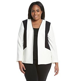 Nine West® Plus Size Stretch Colorblock Jacket