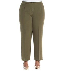 Kasper® Plus Size Stretch Crepe Kate Pants