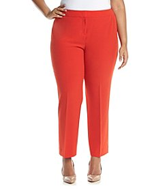 Kasper® Plus Size Stretch Crepe Slim Pants