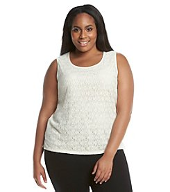 Kasper® Plus Size Lace Knit Tank