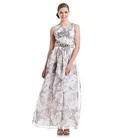 Eliza J® Floral Organza Gown