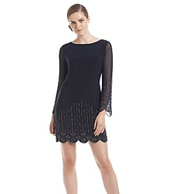 Xscape Beaded Shift Dress