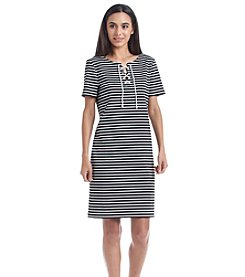 Nine West® Striped Ponte Dress