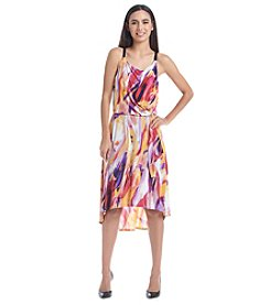 Notations® Sleeveless High Low Sunset Leaked Dress