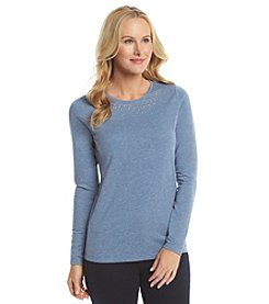 Studio Works® Petites' Crew Neck Knit Top