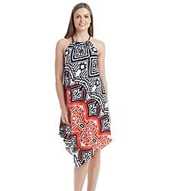 Prelude® Geo Patterned Halter Dress
