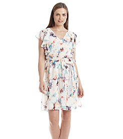 Sangria™ Floral Fit And Flare Dress