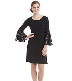 R&M Richards® Lace Bell Sleeved Sheath Dress