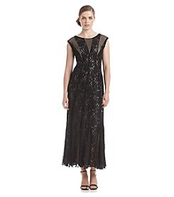 R&M Richards® Fit And Flare Lace Gown