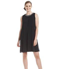 Ronni Nicole® Chiffon Beaded Neck Cocktail Dress