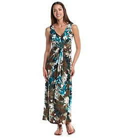 R&M Richards® Petites' Floral Pattern Maxi Dress