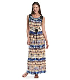 R&M Richards® Petites' Patterened Maxi Dress