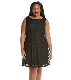 Connected® Plus Size Lace Fit And Flare Dress