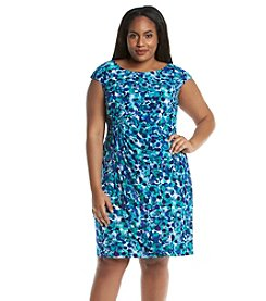Connected® Plus Size Geo Patterned Sarong Dress