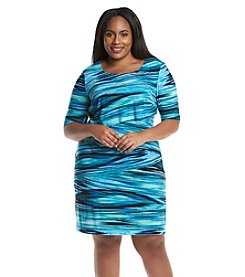Connected® Plus Size Asymmetrical Tiered Dress