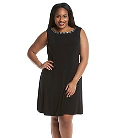 Connected® Plus Size Beaded Fit And Flare Dress