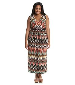 R&M Richards® Plus Size Maxi Bead Detail Dress