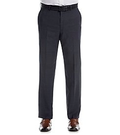 Lauren Men's Navy Plaid Suit Separates Flat Front Pants