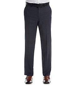 Lauren Men's Navy Plaid Suit Separates Flat Front Pants