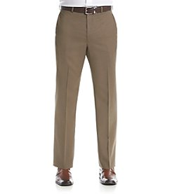 Lauren Ralph Lauren Men's Tan Solid Suit Separates Flat Front Pants