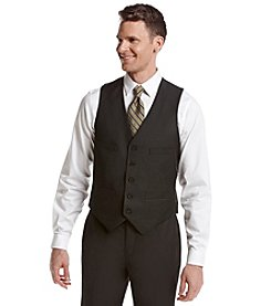 REACTION Kenneth Cole Men's Charcoal Pindot Suit Separates Slim-Fit Vest